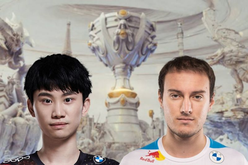 Titans of the mid lane will clash when FPX and C9 face off in their League of Legends match (Image via Sportskeeda)