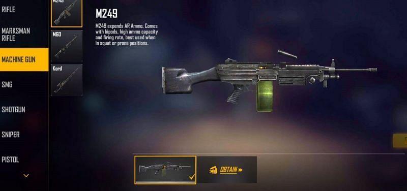 M249 (Image via Free Fire MAX)