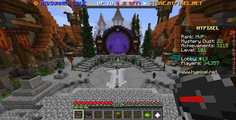 The Hypixel server lobby (Image via Hypixel)
