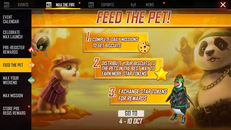 The Feed The Pet event (Image via Free Fire MAX)