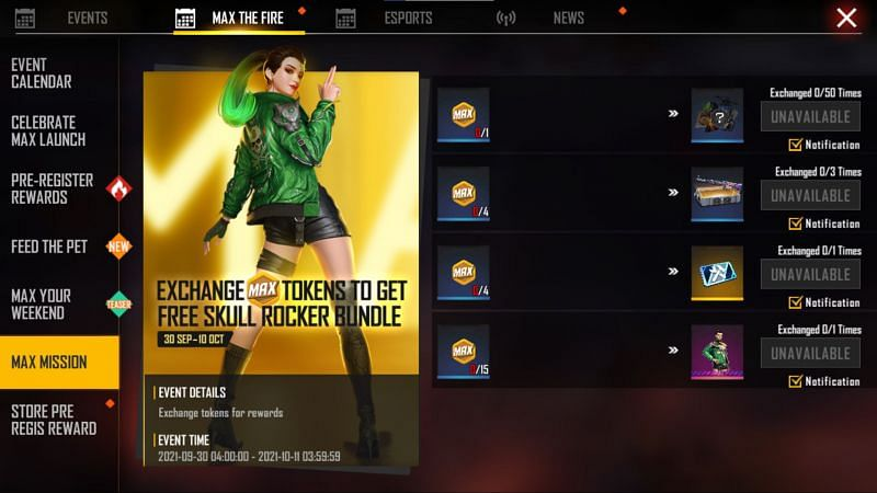 The Max Mission event (Image via Free Fire MAX)
