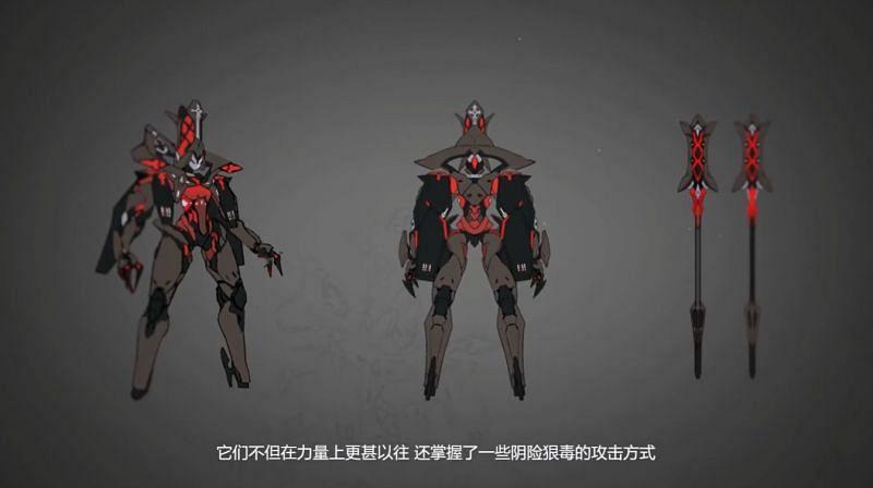 One of the new enemies' designs (Image via Honkai Impact 3rd)