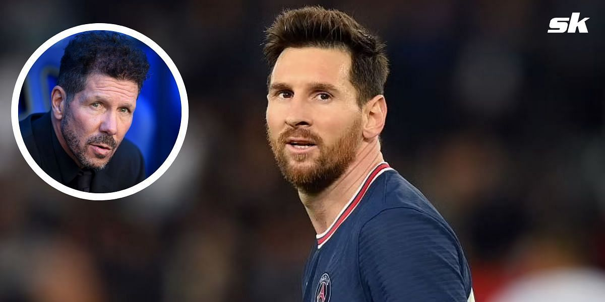 Barcelona parted ways with Lionel Messi this summer; (inset) Diego Simeone.