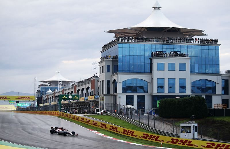Pitlane building at the Intercity Istanbul Park circuit, Turkey -2020 Turkish Grand Prix (Photo by Kenan Asyali - Pool/Getty Images)