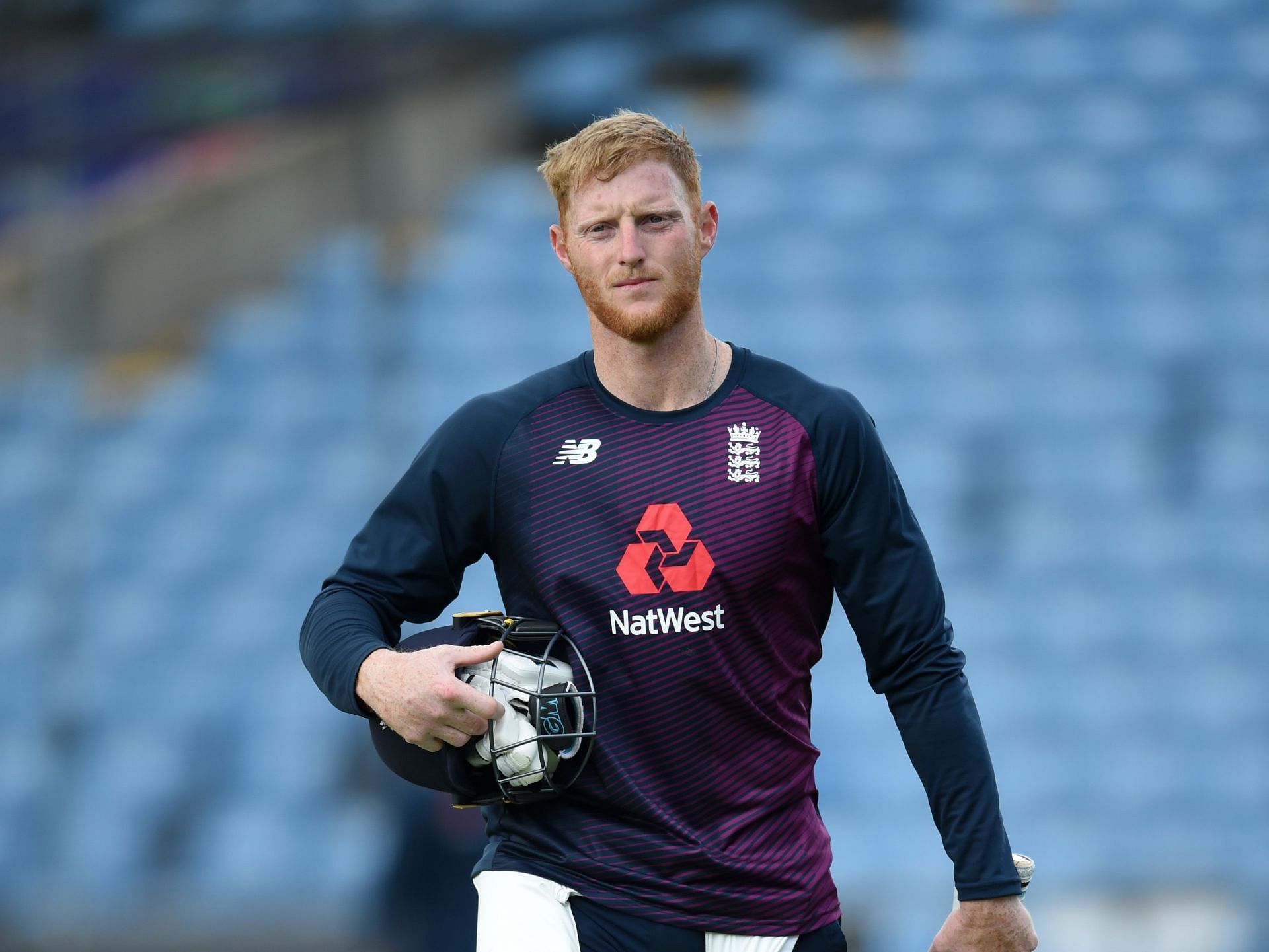 Ben Stokes was seen knocking a few at an indoor facility on Thursday