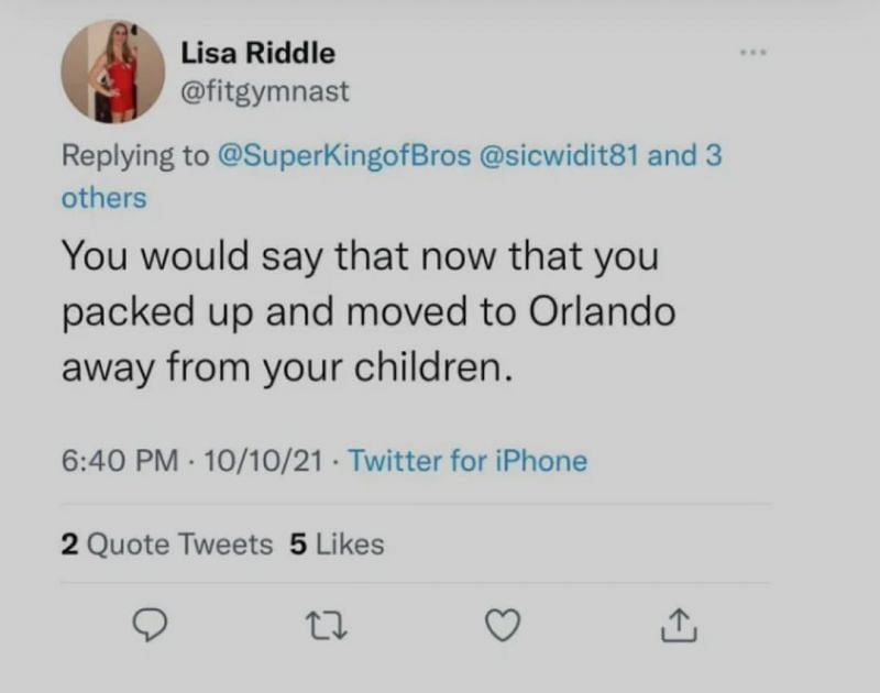 Check out Lisa Riddle's deleted tweet
