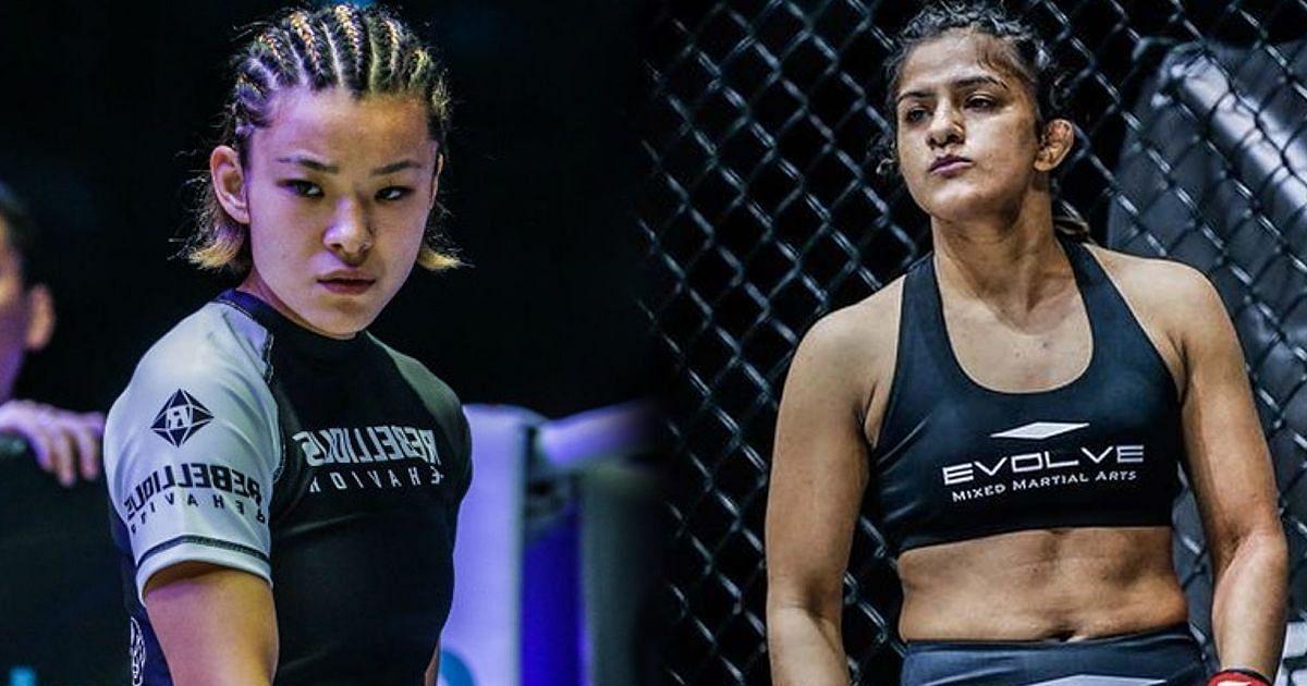 Itsuki Hirata (left), Ritu Phogat (right)