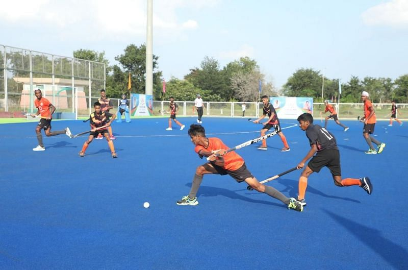 Action during the sub-junior academy National Championship in Bhopal. (PC: Hockey India)