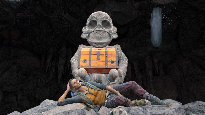 Figurka trzymająca szmaragdową czaszkę w Far Cry 6. (Zdjęcie za pośrednictwem Ubisoft)