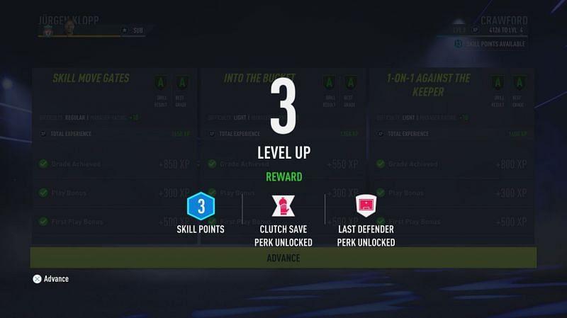 Atuty i punkty umiejętności są zdobywane podczas awansowania (Obraz za pośrednictwem Electronic Arts)