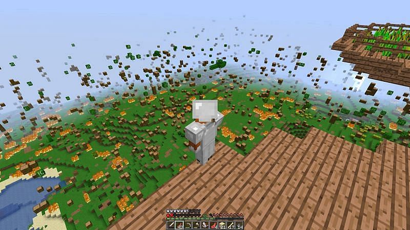Tick speed is useful for controlling how fast things go away in Minecraft, like leaves (Image via Minecraft)