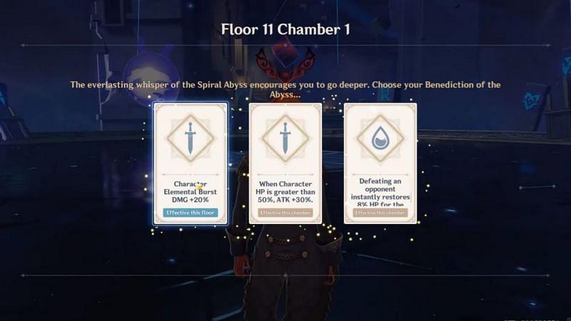 Genshin Impact Floor 11 Chamber 1 Benedictions (Image via Genshin Impact)