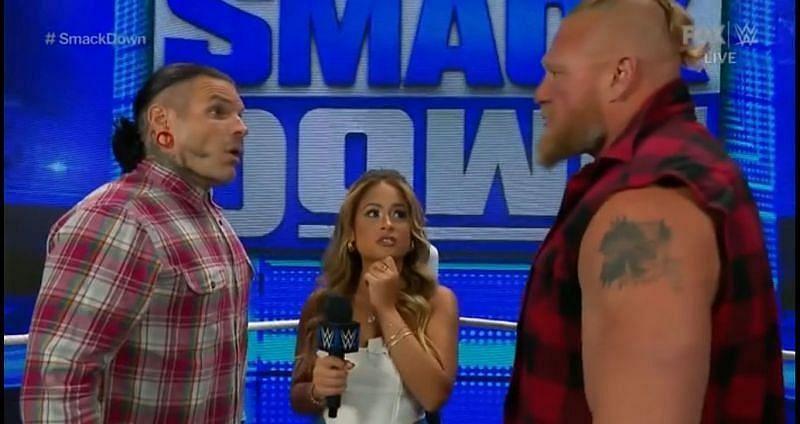 WWE SmackDown में ब्रॉक लैसनर ने मचाया बवाल