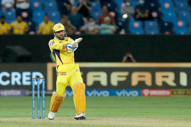 Dhoni smashed a huge six off Avesh Khan in the penultimate over (Pic Credits: IPLT20.com)