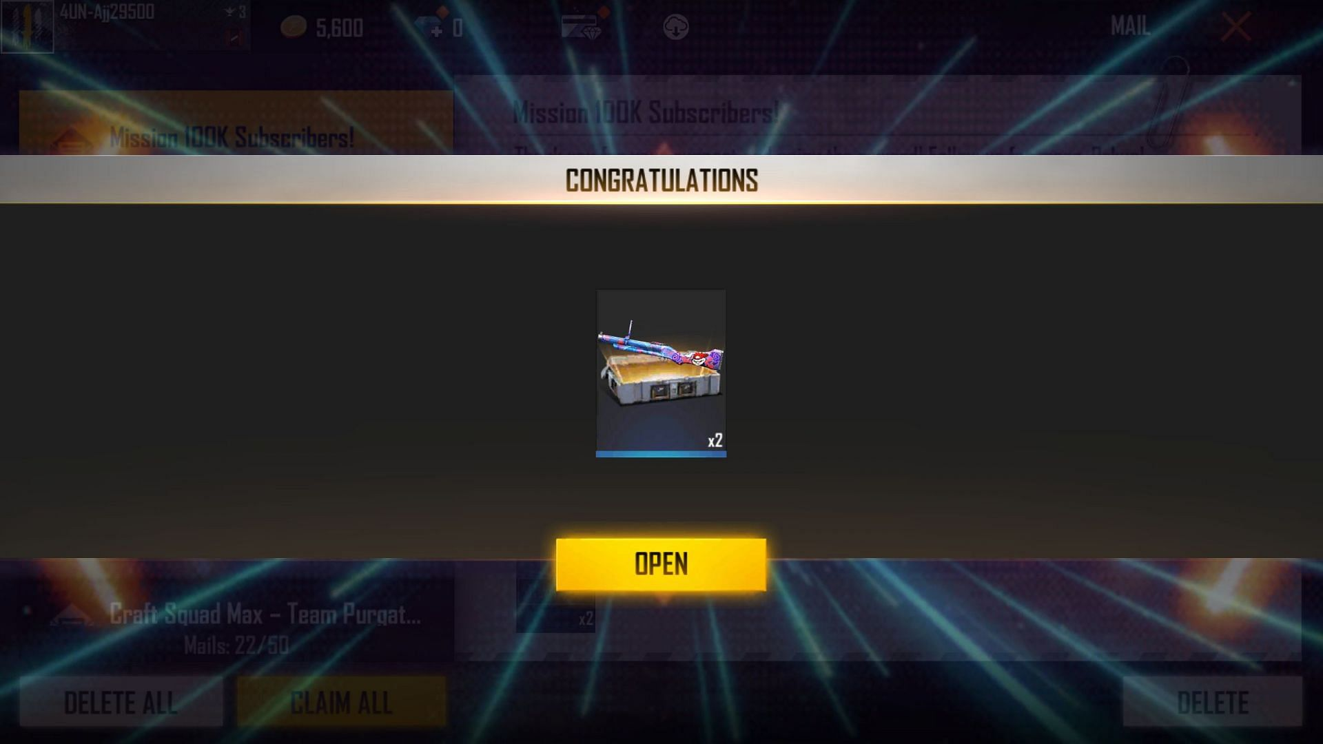 Gamers will receive two of these crates (Image via Free Fire)