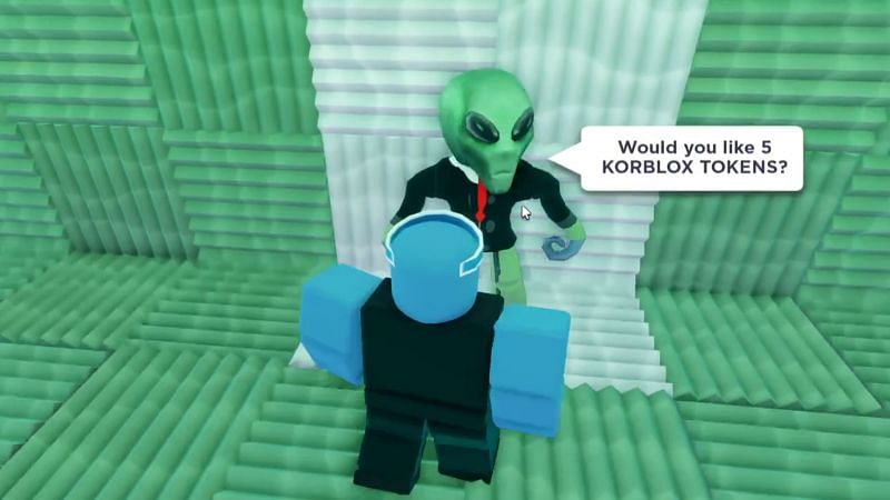 The Alien CEO asks for a lot in return for Korblox Tokens (Image via Vinxci)