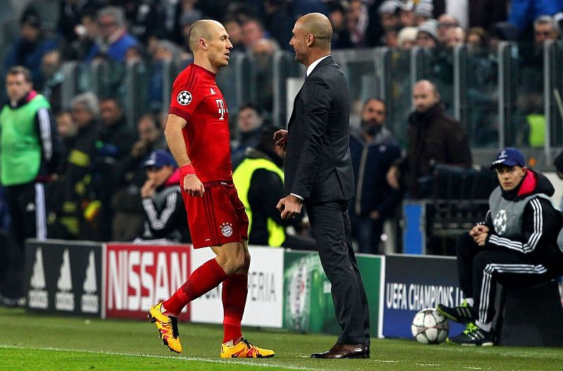 Robben has been in awe of Guardiola's tactical brilliance ever since he played for him