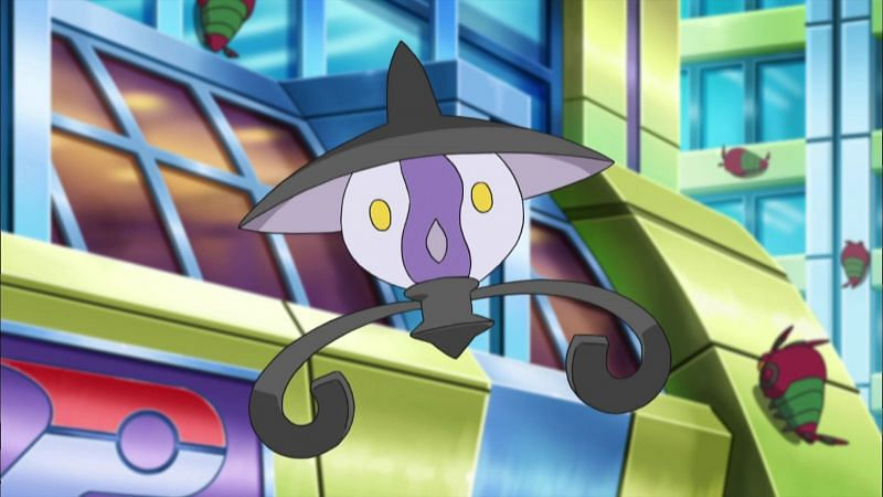 """""""It arrives near the moment of death and steals spirit from the body."""" - an excerpt from Lampent's Pokedex entry (Image via The Pokemon Company)"""