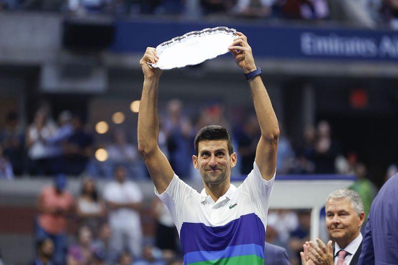 Novak Djokovic after the 2021 US Open final