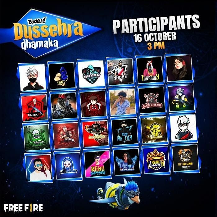 Dussehra participants for 16 October at 3 pm