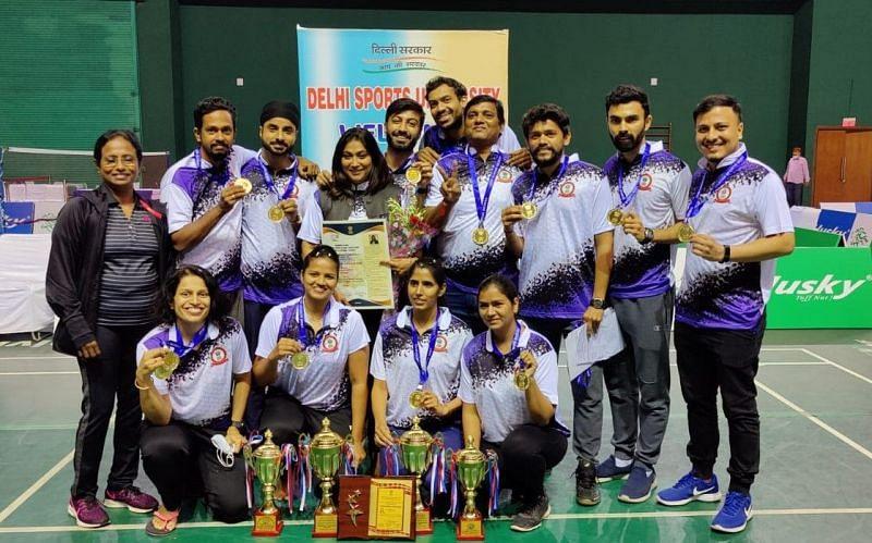 RSB Mumbai badminton team won both the men's and women's team championships