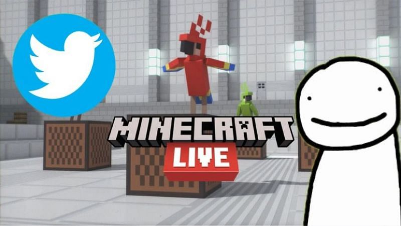 Dream makes a jab at his controversial actions during the live mob vote for Minecraft Live 2020 (Image via Sportskeeda)