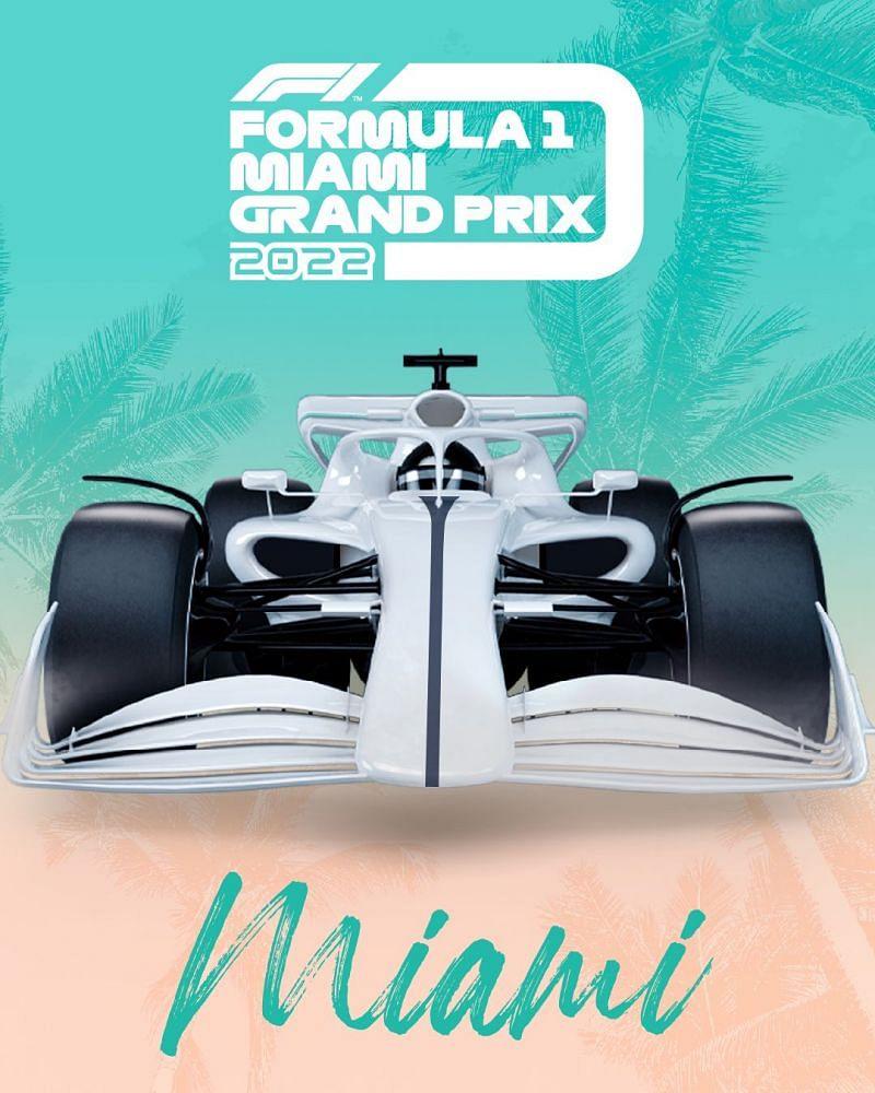 2022 Miami Grand Prix poster. (Image courtesy: F1 media)
