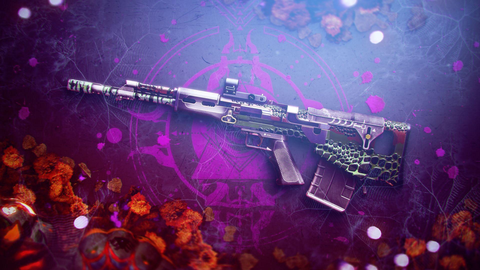 Jurassic Green Legendary pulse rifle (Image via Bungie)