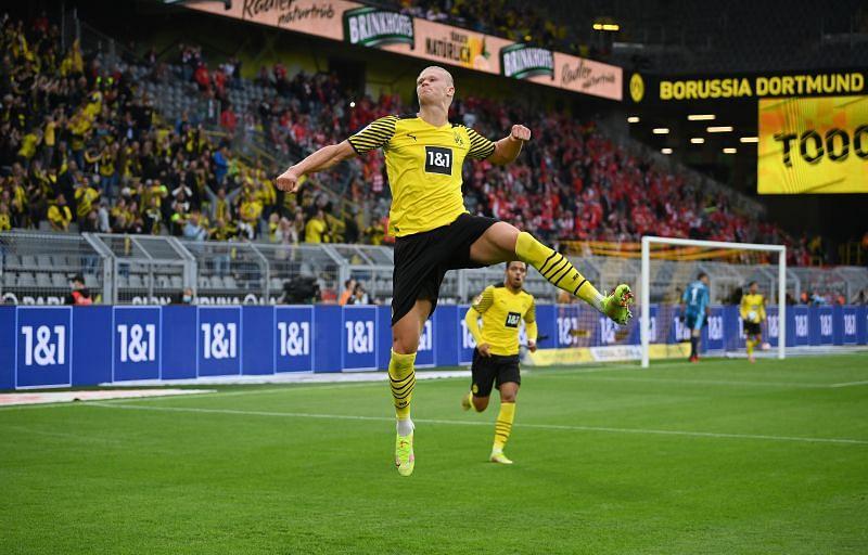 Borussia Dortmund forward Erling Haaland.