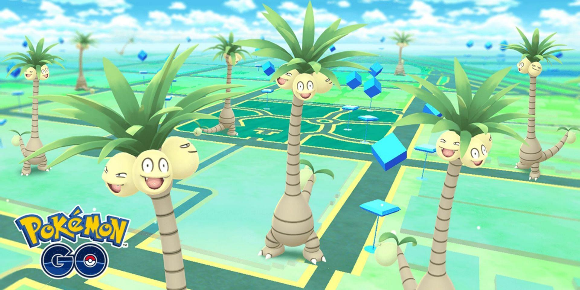 Alolan Exeggutor as it appears on the map in Pokemon GO (Image via Niantic)