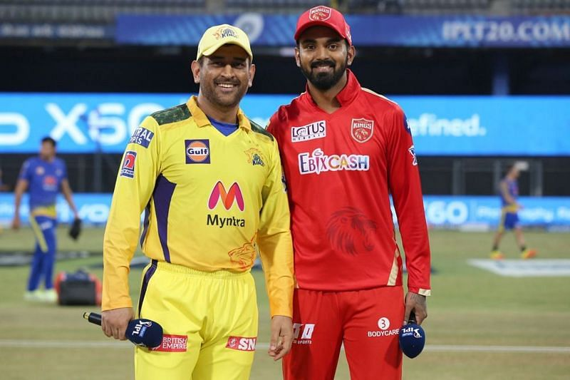 एम एस धोनी और के एल राहुल (Photo Credit - IPLT20)
