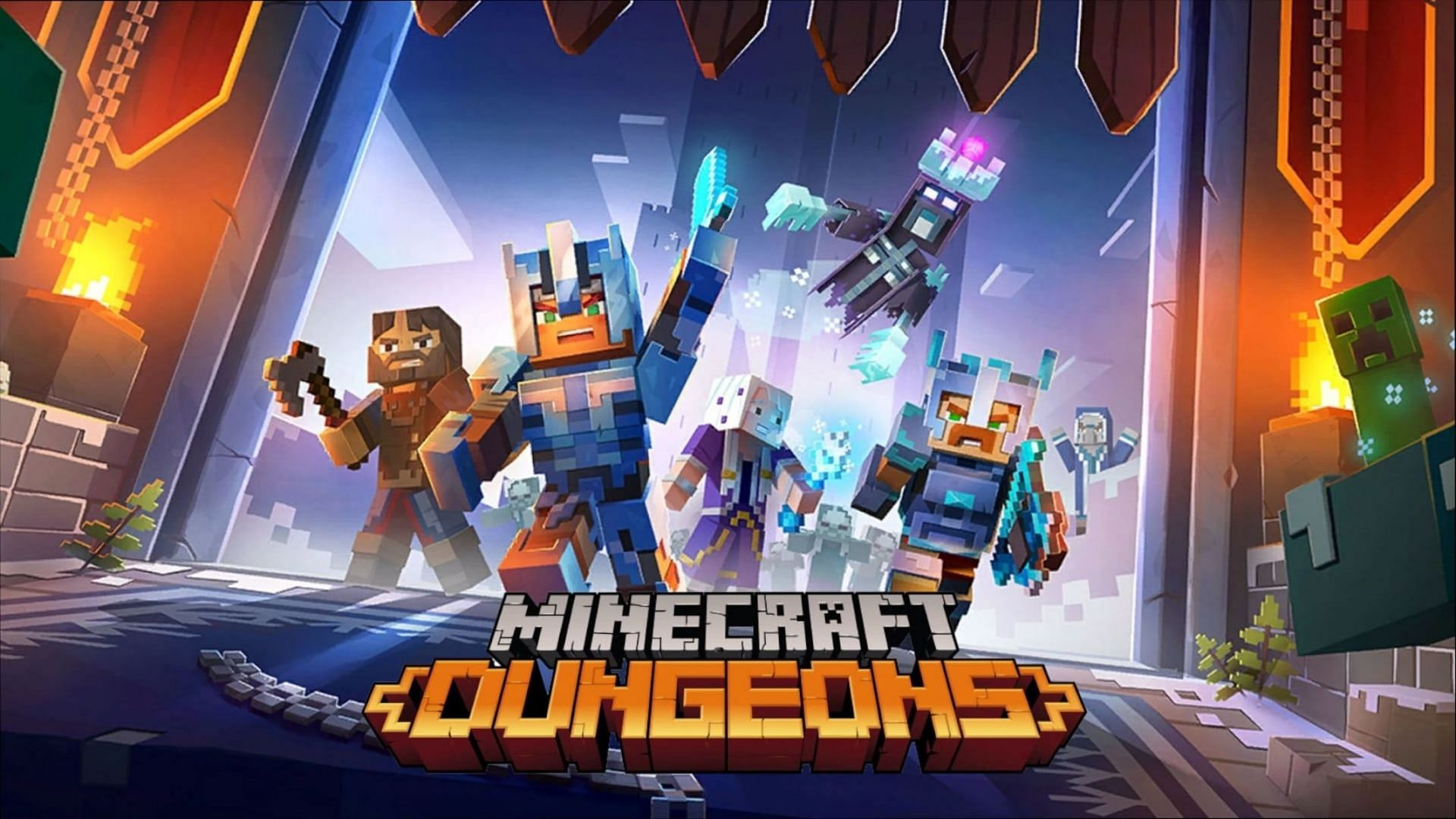 The classic diamond sword is a part of Minecraft Dungeons, though it isn't the best weapon to be found (Image via Mojang)