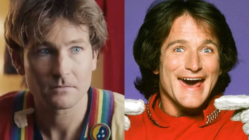 Jamie Costa impersonates Robin Williams for a YouTube video (Image via Jamie Costa/YouTube and Getty Images)