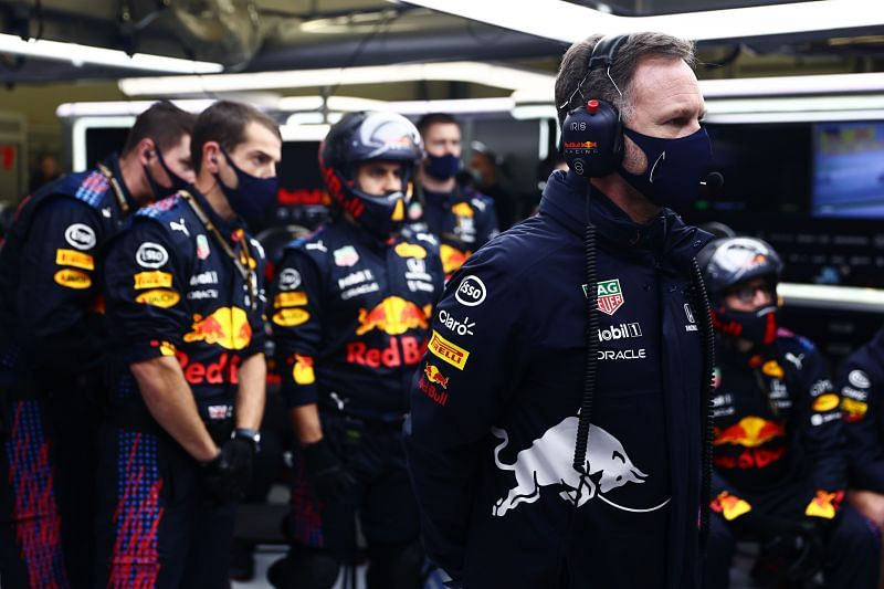 Red Bull Racing Team Principal Christian Horner looks in the garage during the F1 Grand Prix of Turkey at Intercity Istanbul Park (Photo by Mark Thompson/Getty Images)