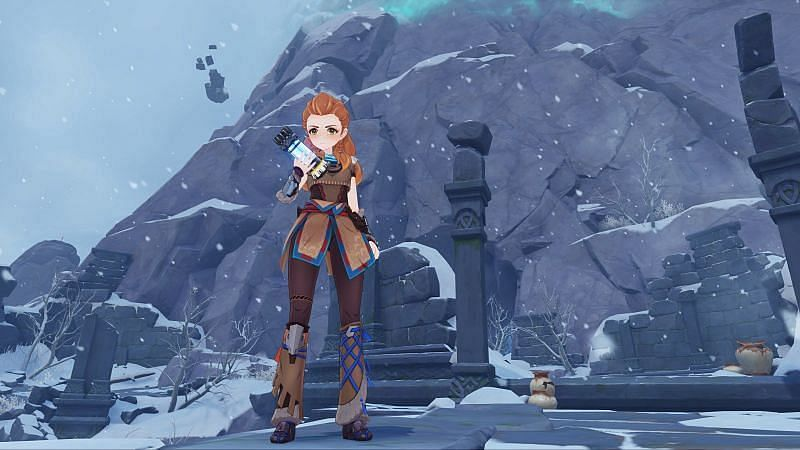 Aloy has finally released for players on PC and mobile (Image via Genshin Impact)