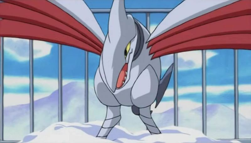 Skarmory as it appears in the anime (Image via The Pokemon Company)