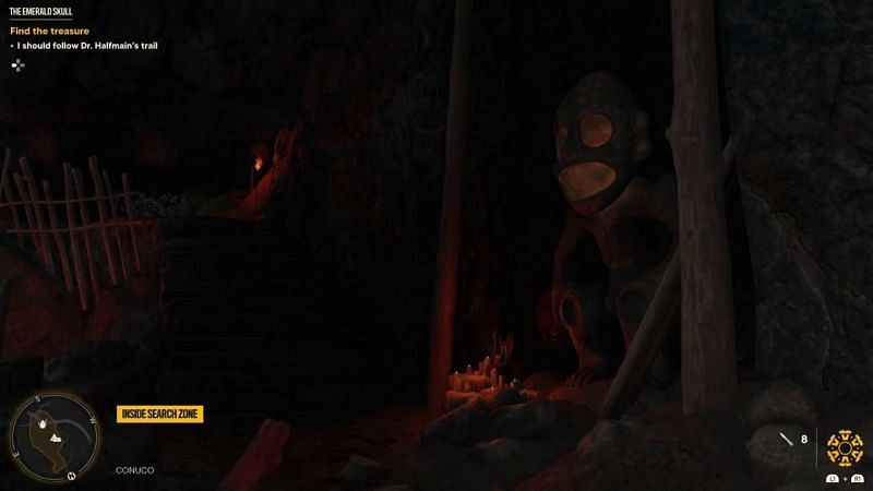 Posąg małpy otwiera wejście.  (Obraz za pośrednictwem Ubisoft)