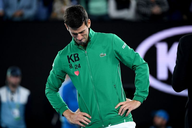 Novak Djokovic at the 2020 Australian Open
