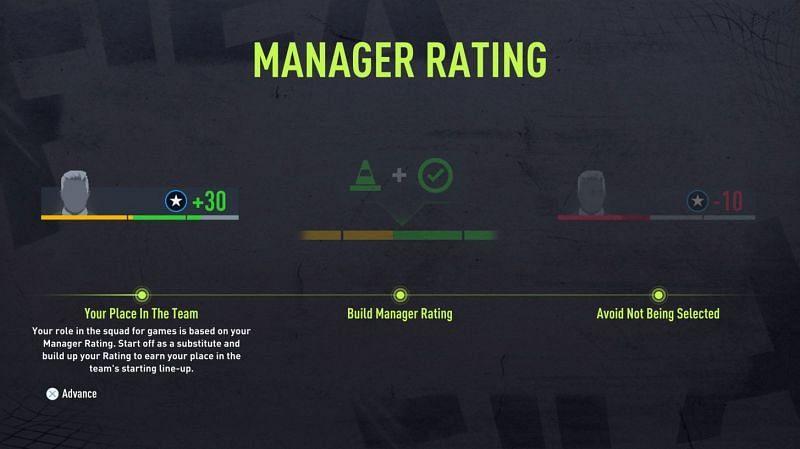 Ocena menedżera dostępna w karierze gracza (zdjęcie za pośrednictwem Electronic Arts)