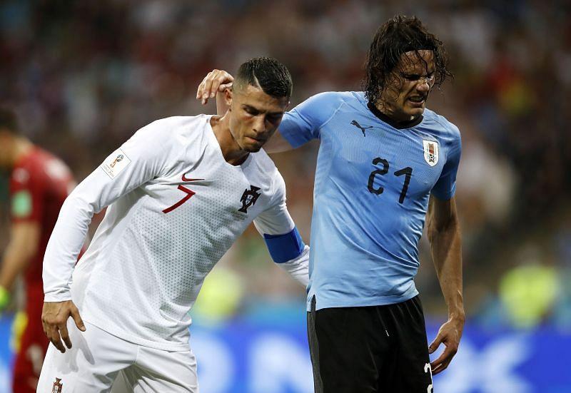 Cristiano Ronaldo and Edinson Cavani have an insane amount of goals between them