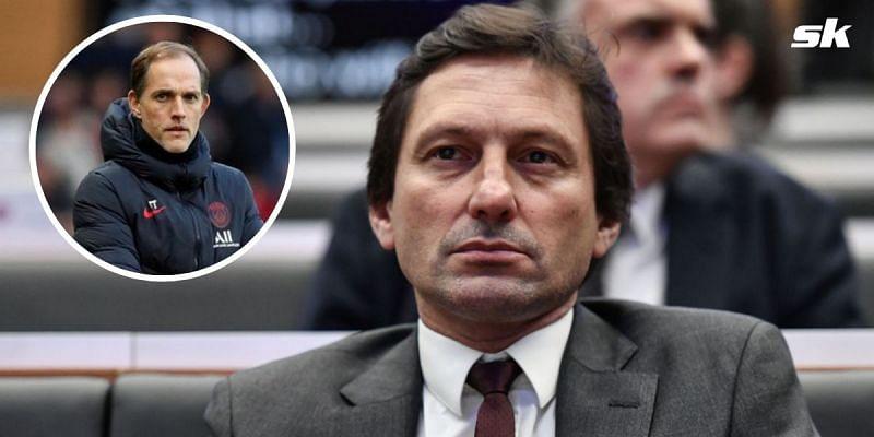 Thomas Tuchel and PSG sporting director Leonardo.