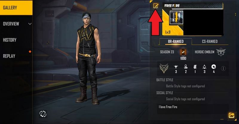 The next step is to tap on this icon (Image via Free Fire MAX)