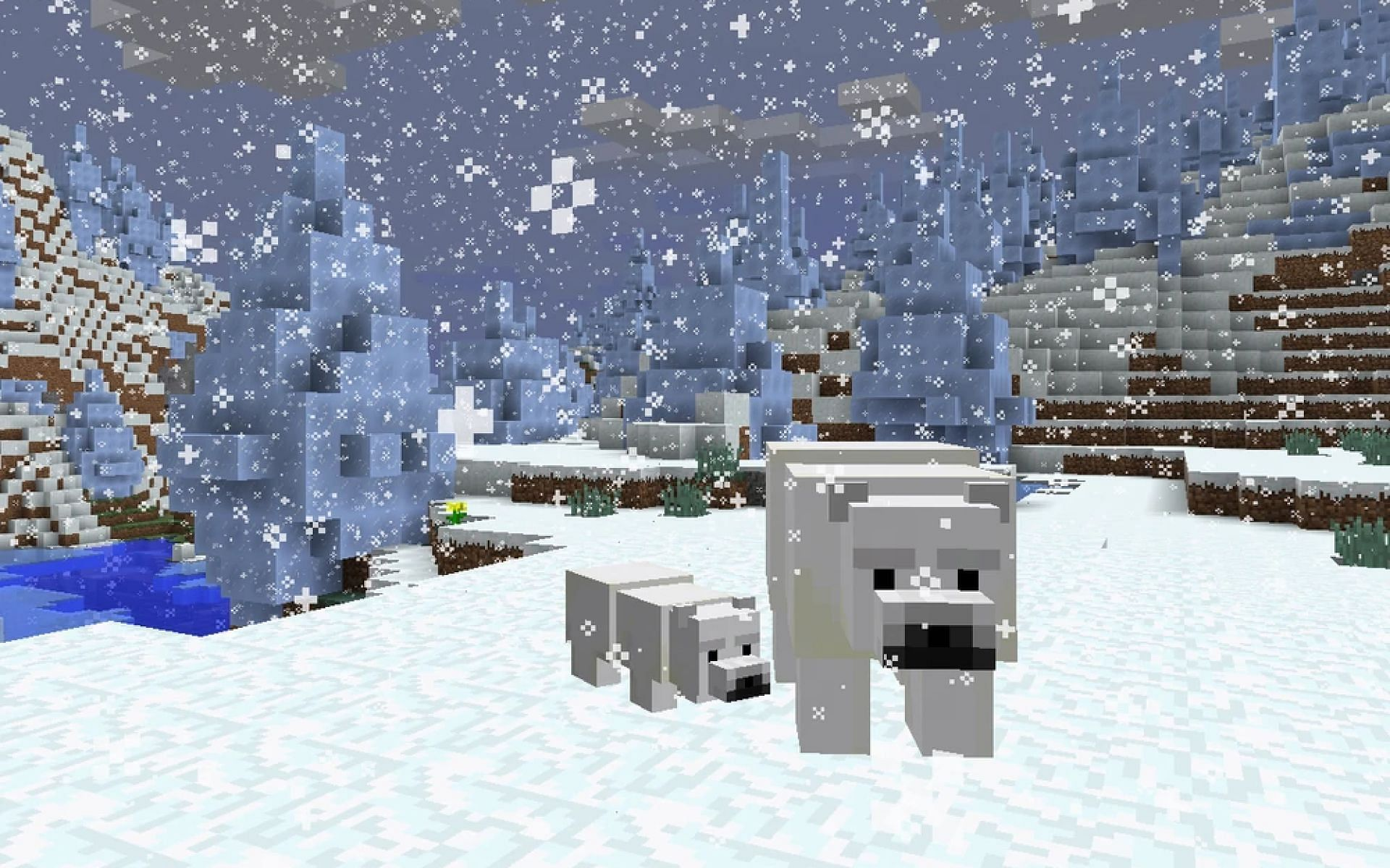 Players should avoid polar bears whenever possible (Image via Minecraft)