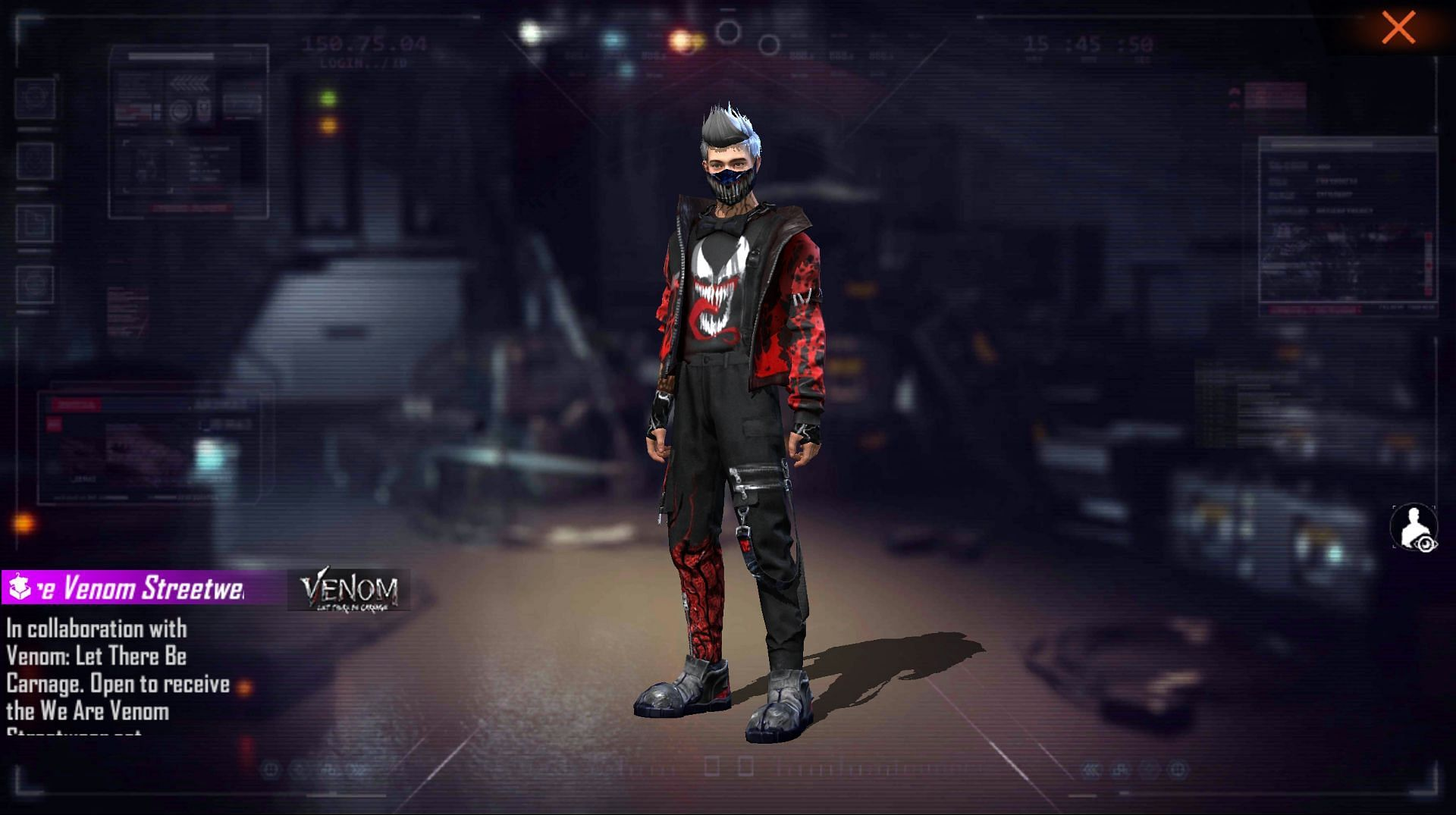 We Are Venom Streetwear is the exclusive bundle (Image via Free Fire)