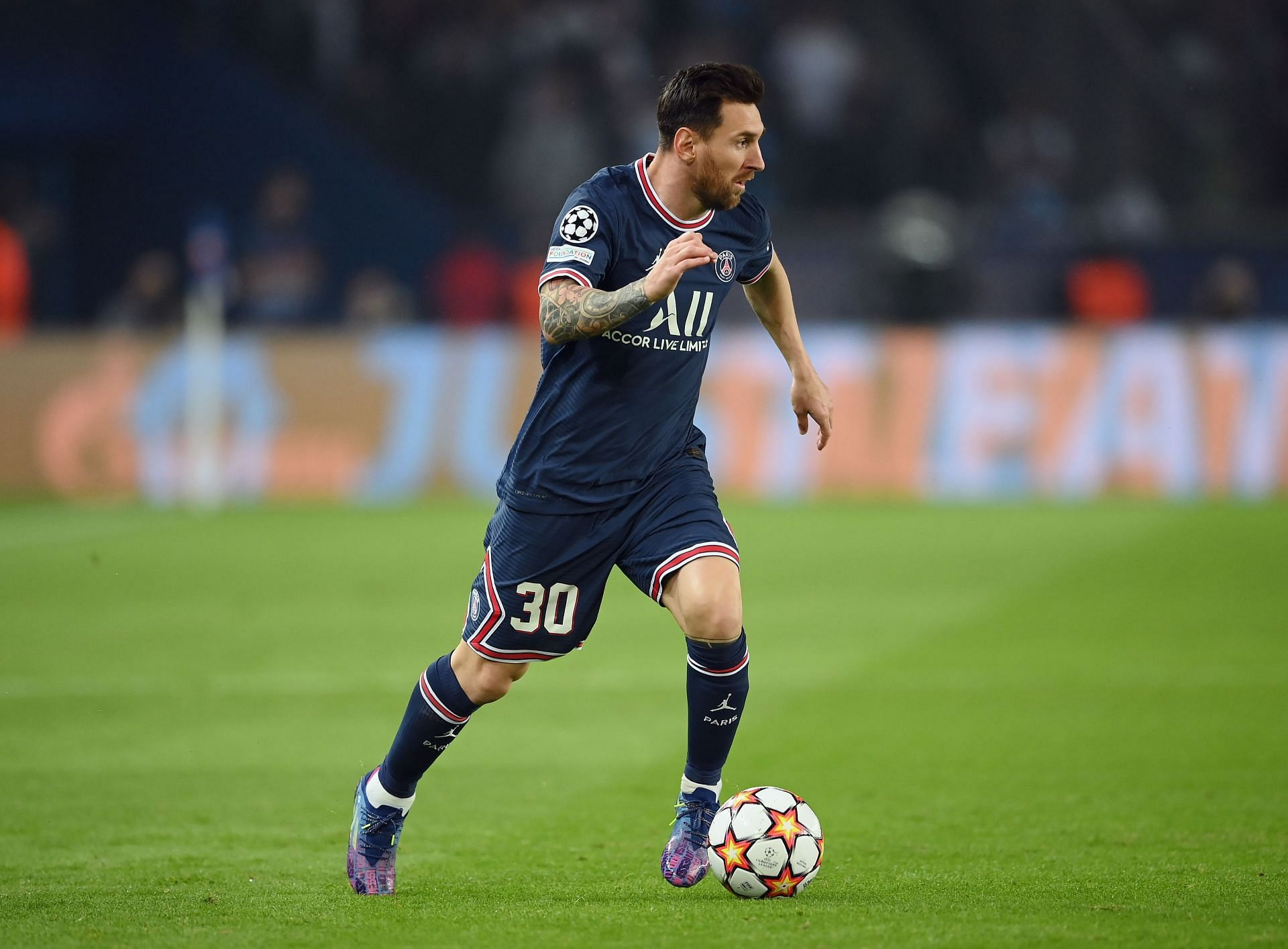 Lionel Messi in action for PSG