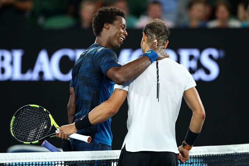 Rafael Nadal after beating Gael Monfils at the 2017 Australian Open
