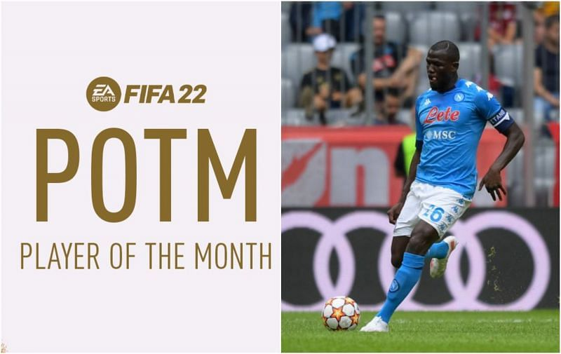 Kalidou Koulibaly is the Serie A POTM for September in FIFA 22 (Images via EA Sports/Napoli)