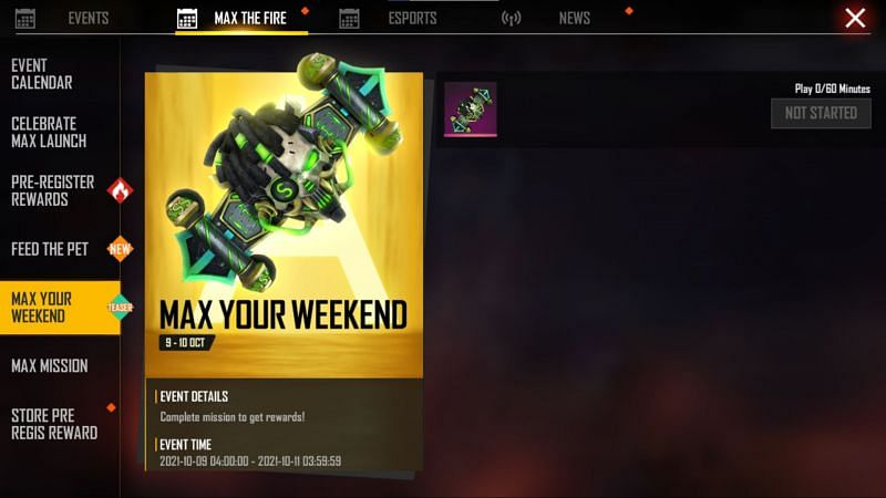 The Max You Weekend event (Image via Free Fire MAX)