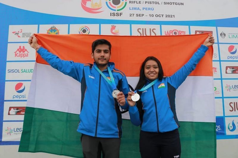 India concluded their campaign at the ISSF Junior World Championship on a high (Twitter:DD Sports)