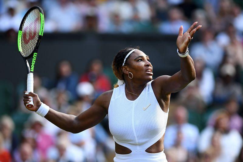 Serena Williams at the 2019 Wimbledon Championships.